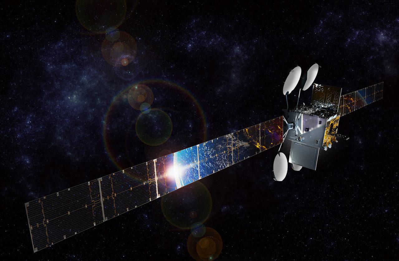 Rendition of the ViaSat 2 satellite. Photo: ViaSat.