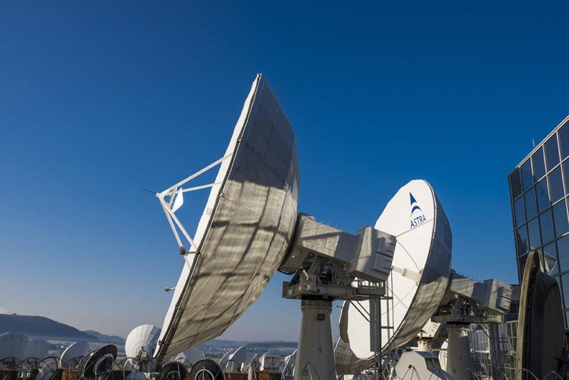 SES' Astra satellite antennas. Photo: SES.
