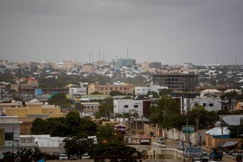 Mogadishu skyline looking towards the city centre and central business district of the Somali capital. Photo: Wikimedia/Stuart Price.