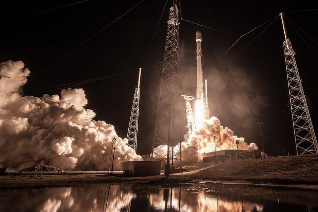 SpaceX Falcon 9 liftoff for Zuma mission.