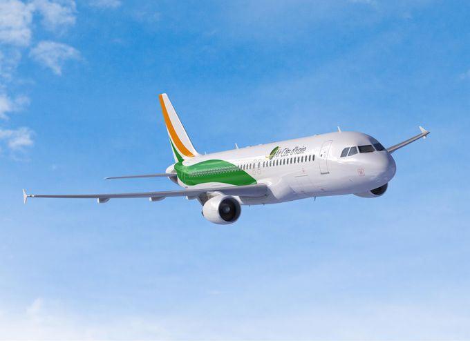 An Airbus A320 Air Cote d'Ivoire passenger jet. Photo: Air Cote d'Ivoire.