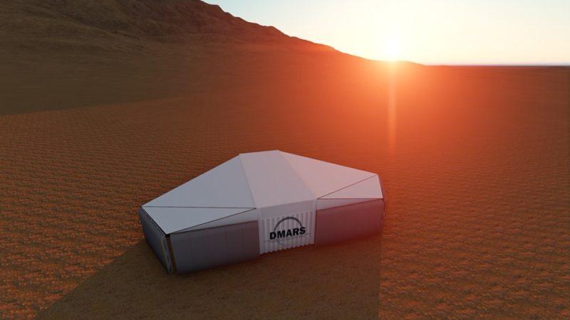 Simulated Mars habitat located near the remote Ramon Crater, Israel. Photo: D-MARS