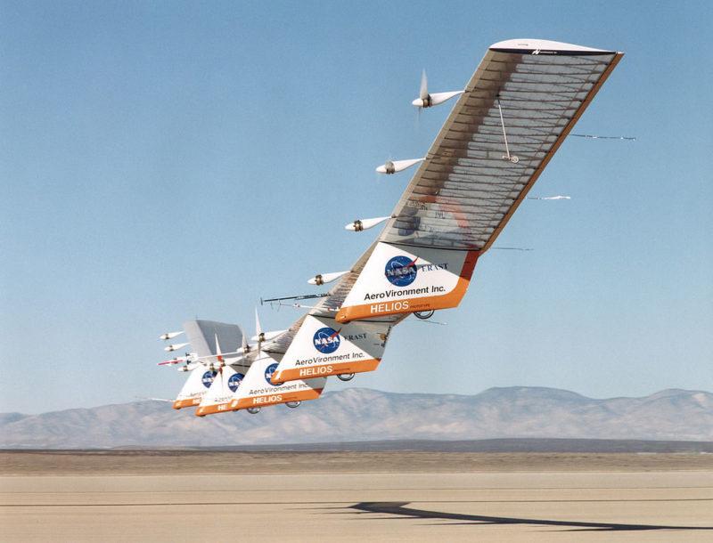 AeroVironment's Helios prototype. Photo: NASA/Tom Tschida.