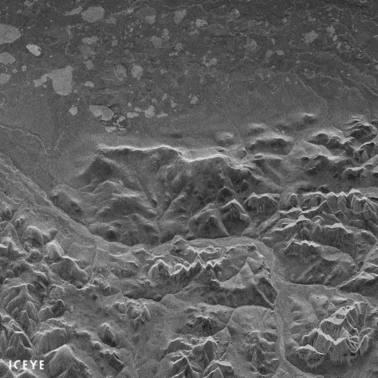 First Iceye X1 radar Image from space of Noatak National Preserve, Alaska. Photo: Iceye.