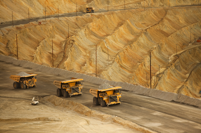 Bingham Canyon copper mine in Utah, the largest man-made hole in the world. Photo: Inmarsat.