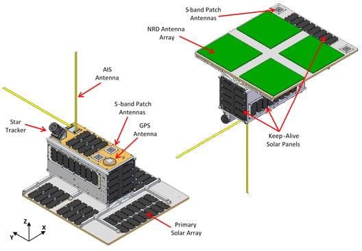 Design concept for NorSat 3. Photo: SFL.