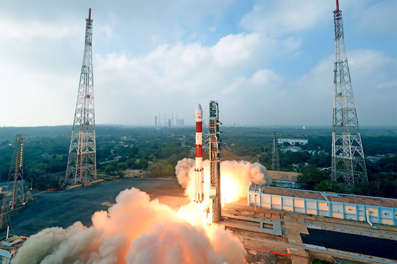 ISRO's PSLV lifts off for its first mission of 2018 on Jan. 12. Photo: ISRO.