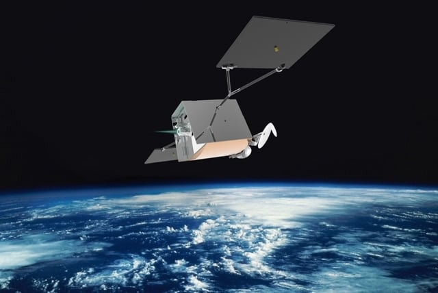Rendition of one of OneWeb's broadband nanosatellites. Photo: OneWeb.