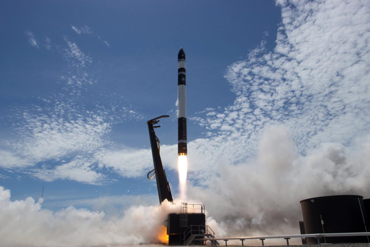Rocket Lab's Electron rocket takes off from the Mahia Peninsula on Jan. 20. Photo: Rocket Lab.