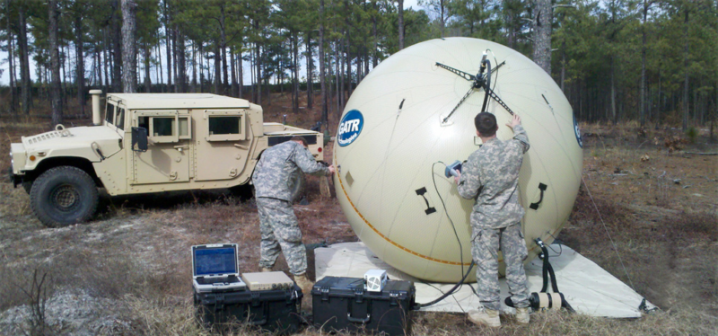 The Gatr 2.4m inflatable satellite antenna system. Photo: Cubic.
