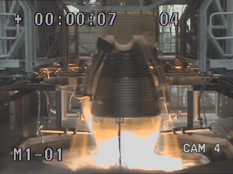 Ariane 6 undergoes its first test firing at DLR's Lampoldshausen site. Photo: DLR.