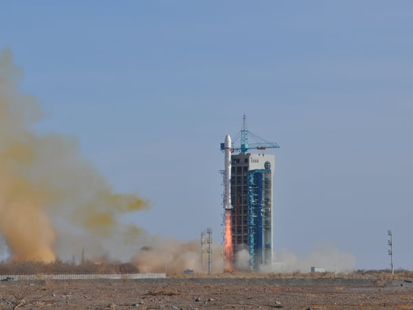 China launches the Zhanghen 1 satellite and other passengers on a Long March 2 rocket Feb. 2 from the Jiuquan Satellite Launch Center. Photo: CNSA.