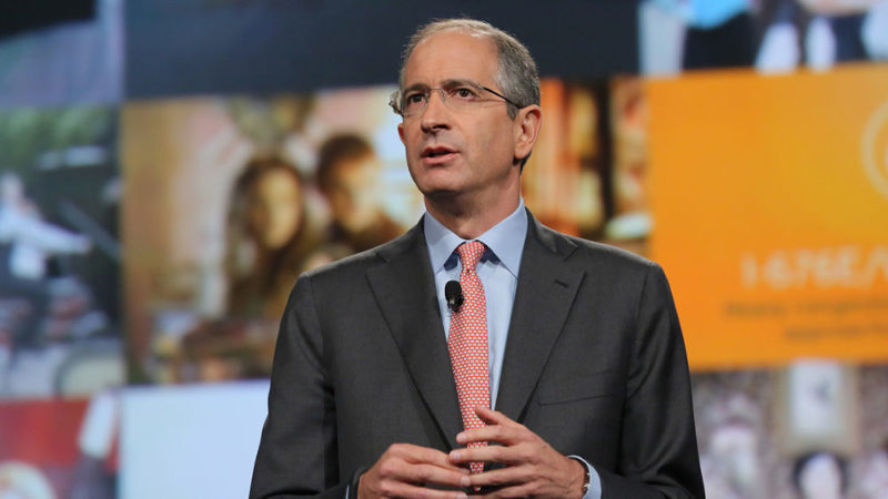 Comcast CEO Brian Roberts delivers a keynote during the the Cable Show in June 2017. Photo: Comcast.
