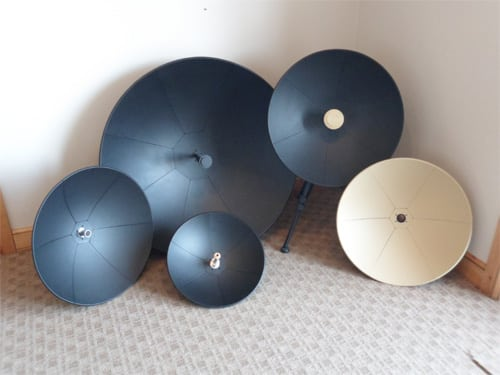 Examples of Eclipse Composite Engineering's military-grade satcom antennas. Photo: Eclipse Composite Engineering.