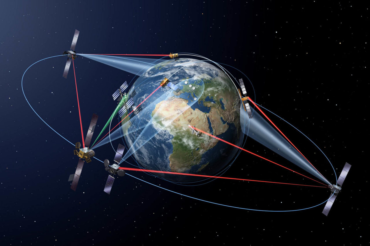 Artist rendition of the SpaceDataHighway. Photo: Airbus.