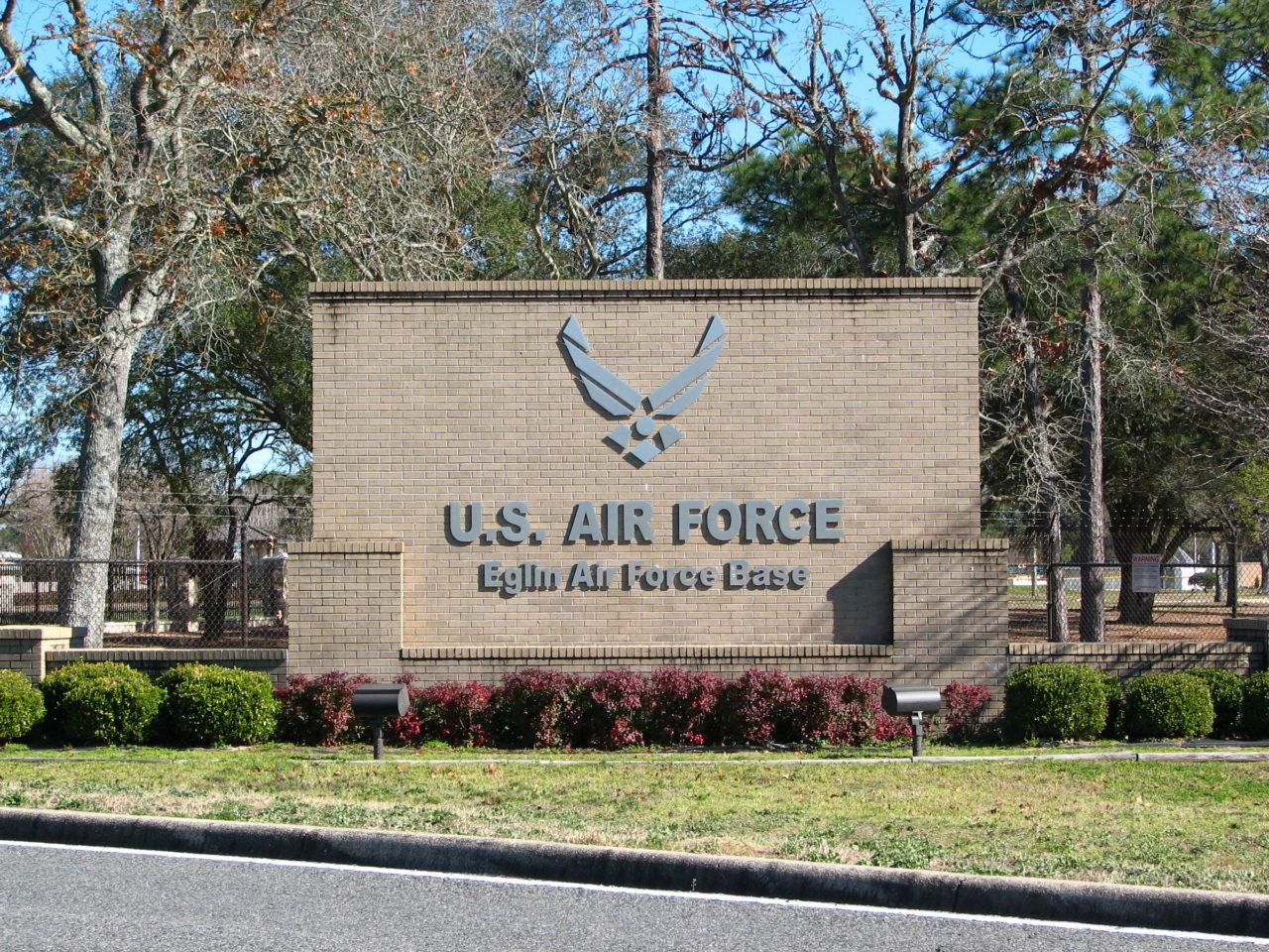 Eglin Air Force Base southwest of Valparaiso, Florida. Photo: U.S. Air Force.