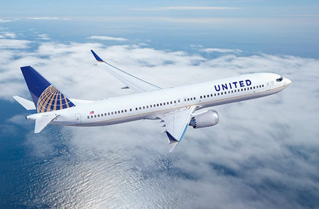 United Airlines' Boeing 737MAX. Photo: United Airlines.