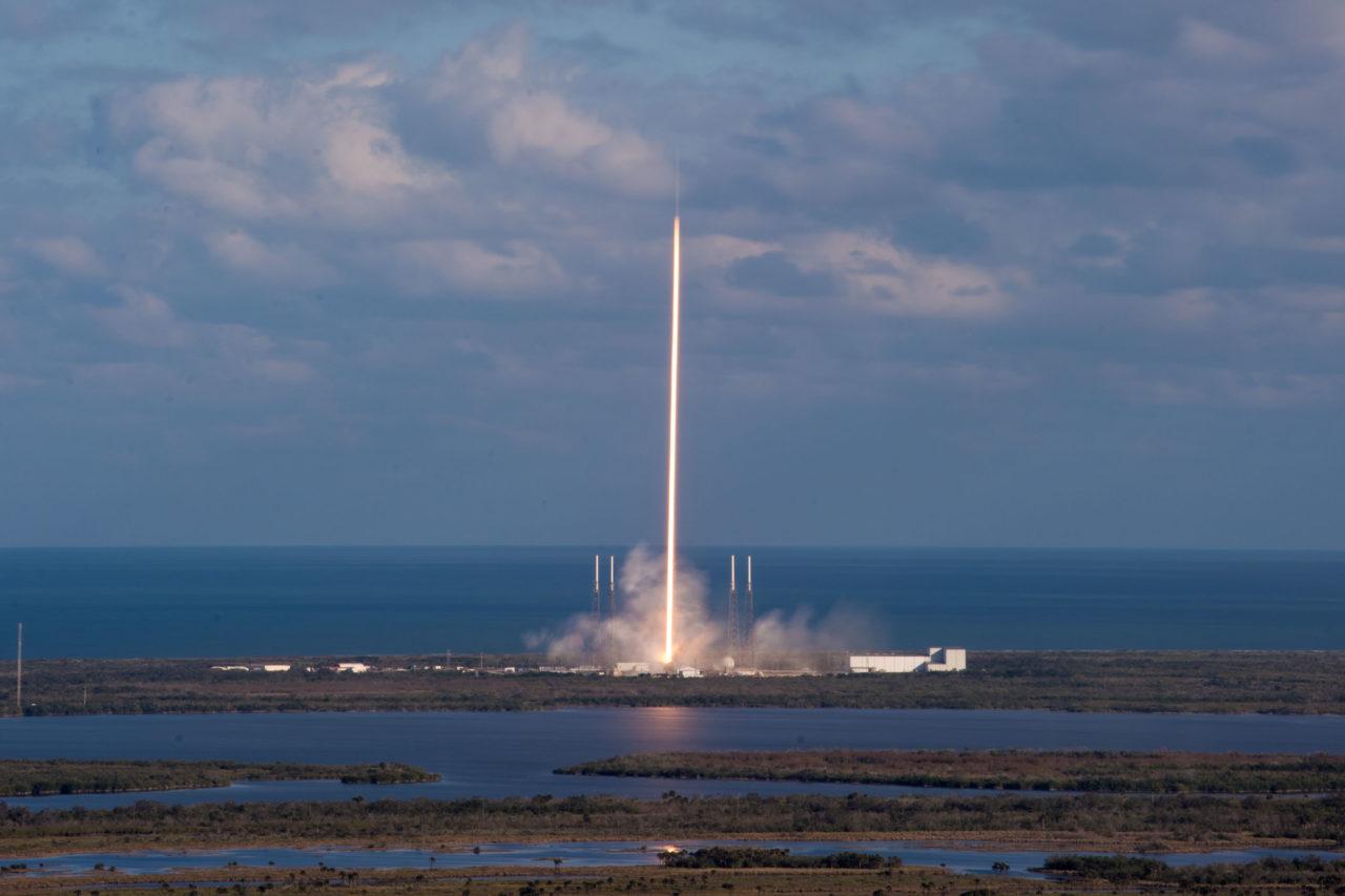 SpaceX's Falcon 9 launches GovSat 1 on Jan. 31, 2018. Photo: GovSat.