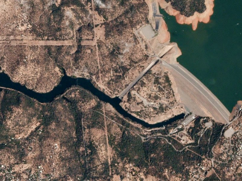Oroville Dam in California in September 2016. Photo: Planet.