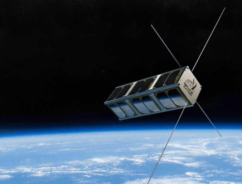 Renditon of Qtum's blockchain satellite. Photo; Qtum Foundation.