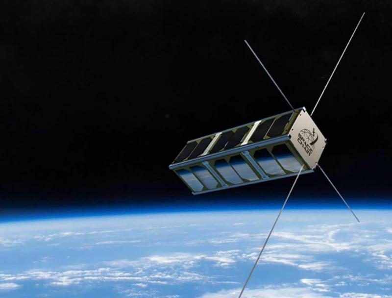Renditon of Qtum's blockchain satellite. Photo; Qtum Foundation.