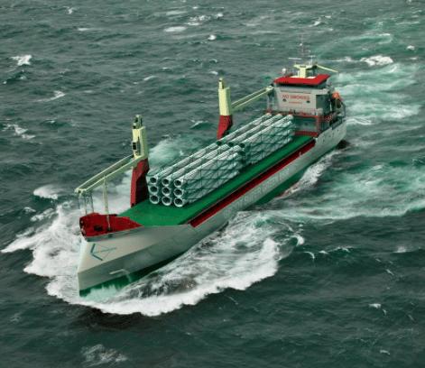 A vessel in Carisbrooke Shipping's super green fleet. Photo: Carisbrooke Shipping.