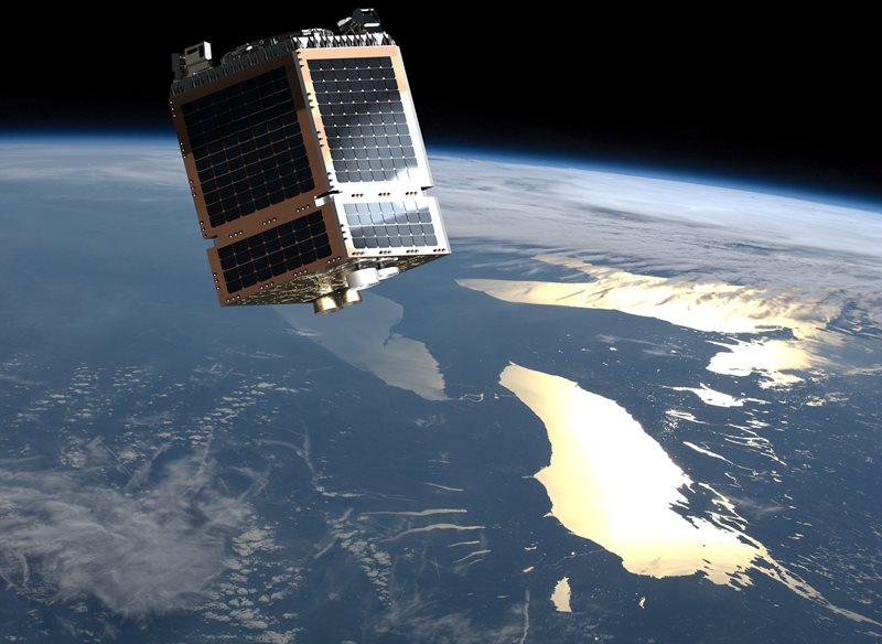 Rendition of Telesat's Phase 1 LEO satellite in orbit. Photo: SSTL.