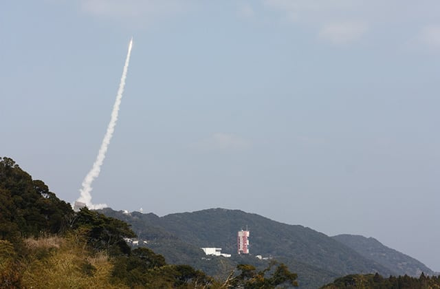 JAXA's SS-520, a modified sounding rocket, successfully orbited the Tricom 1R satellite from Uchinoua Space Center on Feb. 3. Photo: JAXA.
