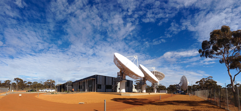 NBN Co satellite ground station in Wolumla, Australia. Photo: NBN Co.