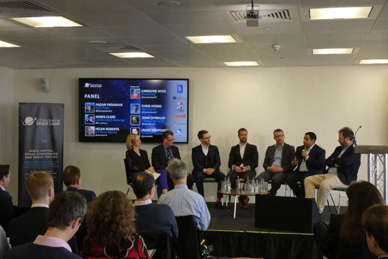 A panel of collaborates discusses Seraphim Capital's new Space Camp Accelerator. Photo: Seraphim Capital.