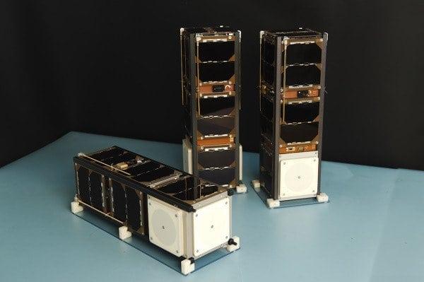 Sky and Space Global's 3 Diamonds nanosatellites. Photo: Sky and Space Global.