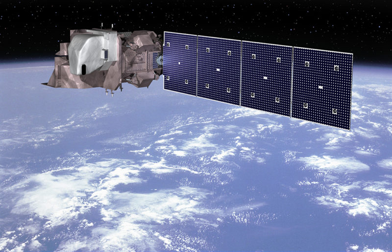 Artist's rendition of the Landsat 9 spacecraft in orbit. Photo: Orbital ATK.