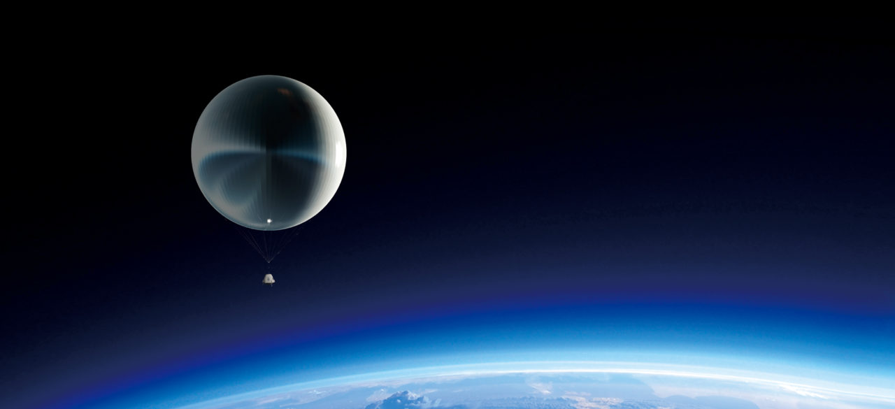 Rendition of Kuang=Chi's Travel spacecraft in near space. Photo: Kuang-Chi.