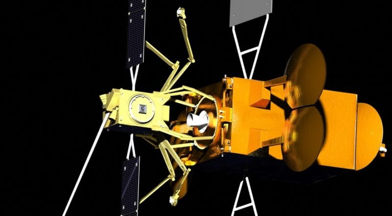 Artist rendition of Space Drone servicing satellite. Photo: Effective Space