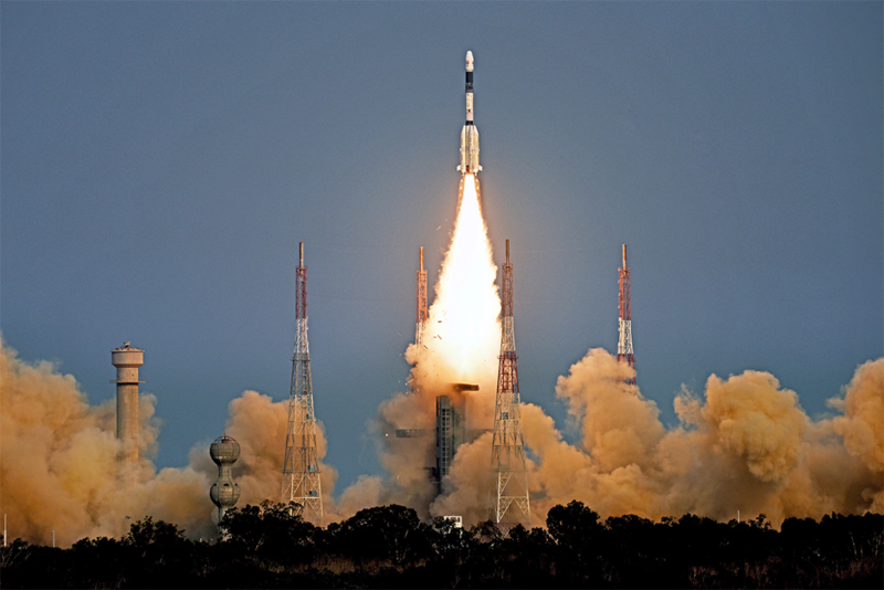 ISRO launches the GSAT 6A satellite on March 29, 2018. Photo: ISRO.