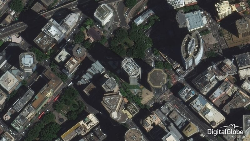 DigitalGlobe's WorldView 3 satellite captured this image of Sydney, Australia in January 2015. Photo: DigitalGlobe.
