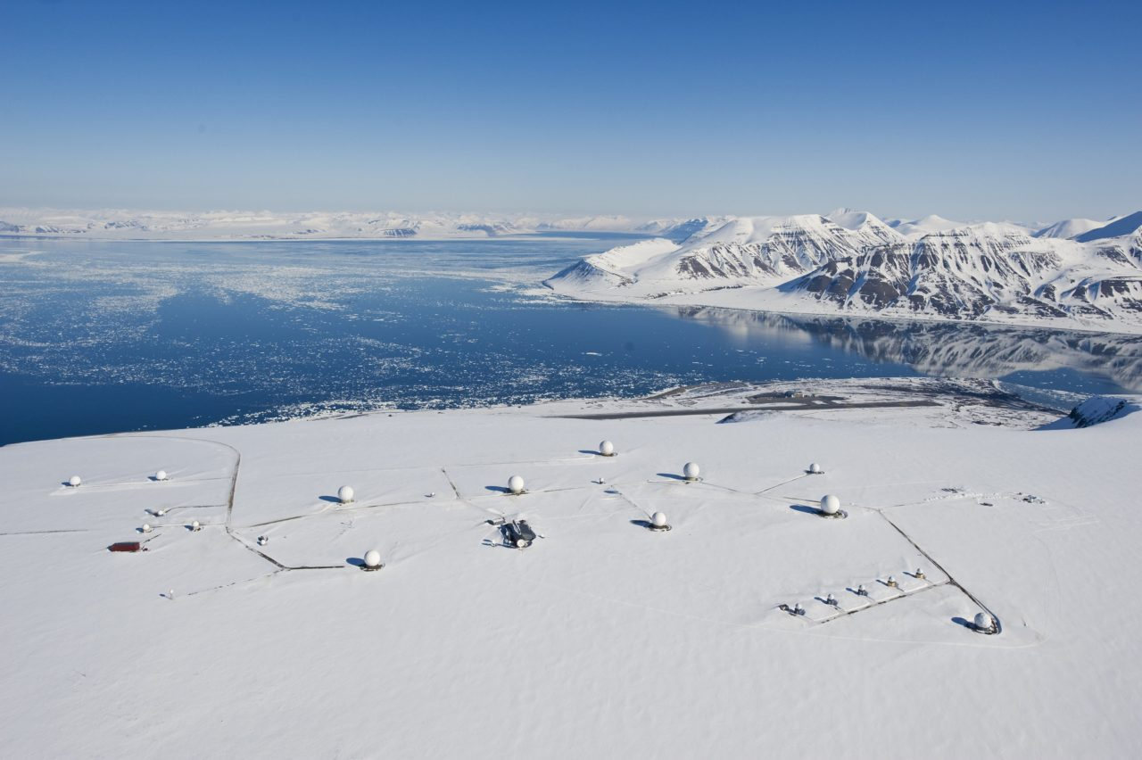 KSAT's Svalbard Ground Station in Norway. Photo: KSAT.