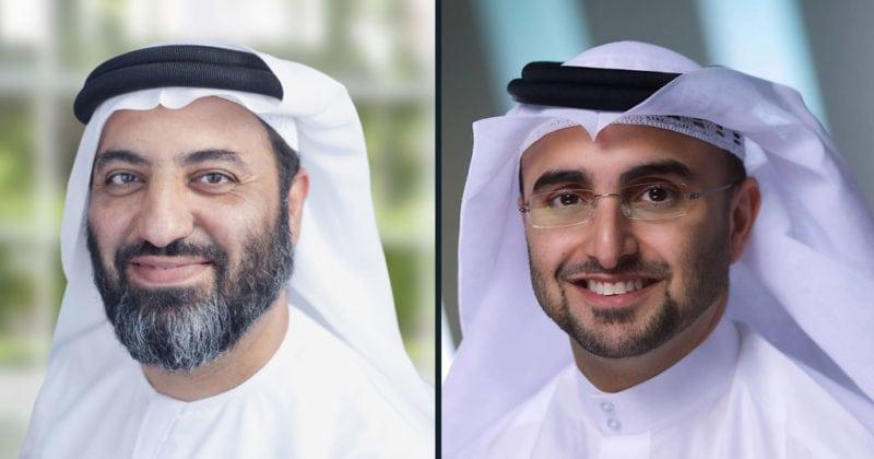 Left: Ahmed Ali Al Shamsi, Thuraya CEO; right: Masood M. Sharif Mahmood, Yahsat CEO.