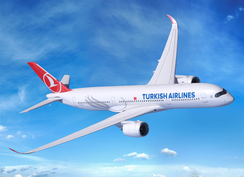 Turkish Airlines' A350-900 aircraft. Photo: Airbus.