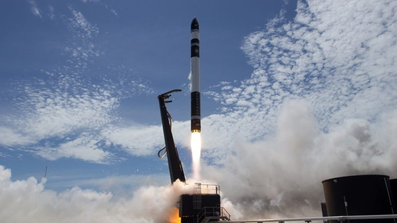 Rocket Lab's Electron takes off for its Jan. 21 flight. Photo: Rocket Lab.