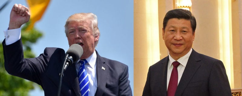 The U.S.' President Trump and China's President Xi Jinping are leading their countries in an escalating trade skirmish. Trump photo fair use/Xi photo by Antilong, used under creative commons