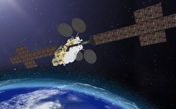 Rendition of the Konnect satellites, another Thales Alenia Space VHTS satellite. Photo: Thales Alenia Space