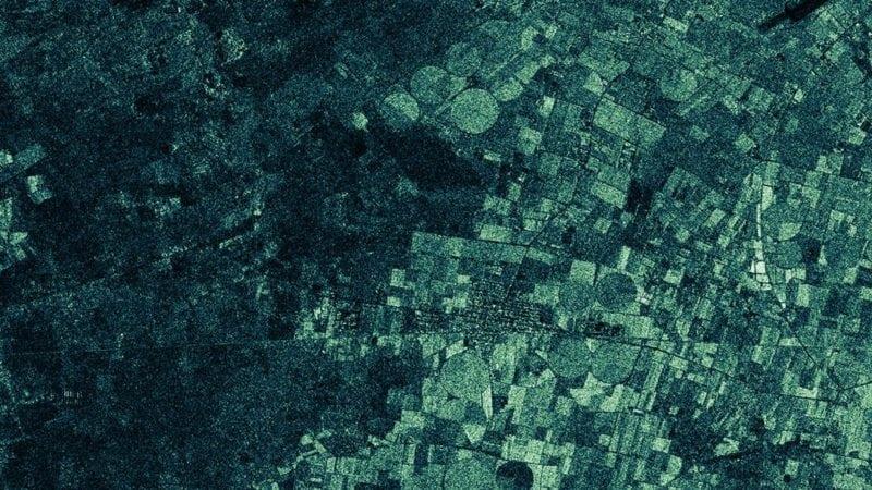 Iceye-X1 image of fields near Havana, Cuba