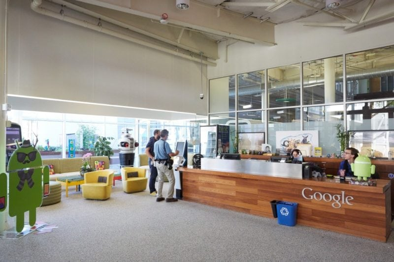 A view inside Google's headquarters.