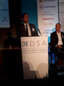 Leonardo Euler de Morais, commissioner of the National Telecommunication Agency of Brazil (ANATEL), speaking at the Dynamic Spectrum Alliance Summit 2018. Photo: DSA