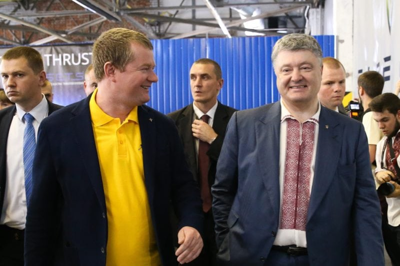 Firefly Aerospace opens R&D center in Ukraine attended by President Petro Poroshenko (right)