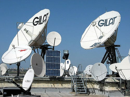 Gilat Satellite Network antennas in Israel