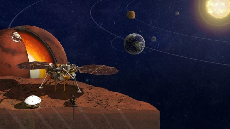 InSight is a robotic lander designed to study the interior of the planet Mars