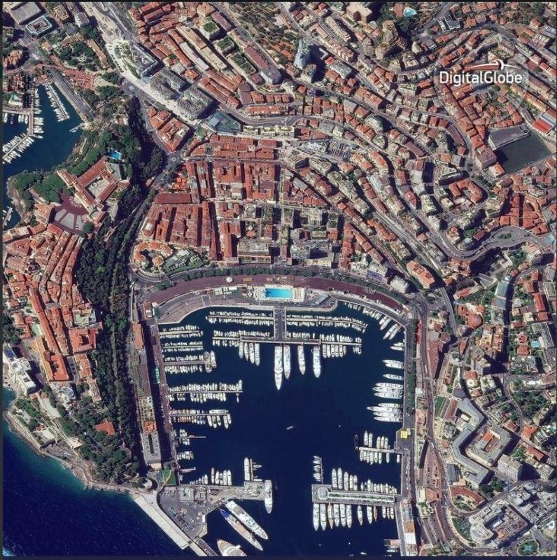 DigitalGlobe satellite imagery of Monaco