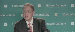 "Scott Pace, executive secretary, National Space Council speaking at the ""Space 2.0: U.S. Competitiveness and Policy in the New Space Era"" at the Hudson Institute."